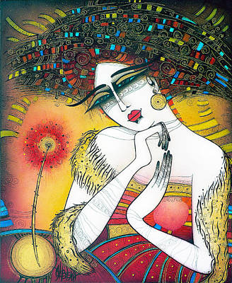 Painting - The Lady With The Flower by Albena Vatcheva