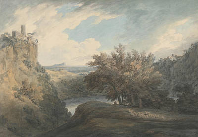 Italian Landscapes Painting - The Lake Of Nemi by John Robert Cozens