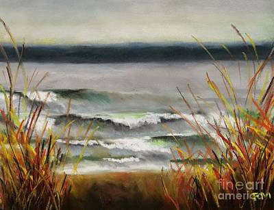 Abstact Painting - The Lake Shore by Frances Marino