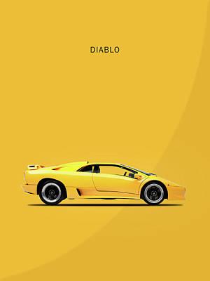 Diablo Photograph - The Lamborghini Diablo by Mark Rogan