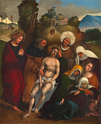Painting - The Lamentation by Ludovico Mazzolino