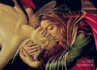 Crying Painting - The Lamentation Of Christ by Sandro Botticelli