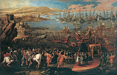 Painting - The Landing Of The Infanta Maria At Naples by Domenico Gargiulo