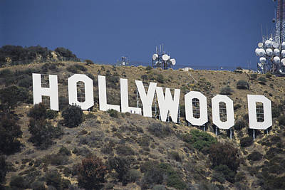 Pacific Coast Photograph - The Landmark Hollywood Sign by Richard Nowitz
