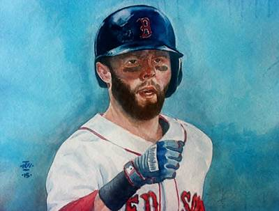Fenway Park Painting - The Laser Show by Nigel Wynter