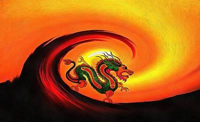 Apocalyptic Digital Art - The Last Dragon by Dan Sproul