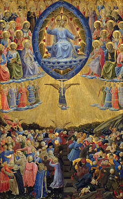 Biblical Painting - The Last Judgement, Central Panel by Fra Angelico