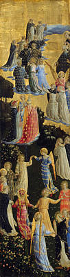 Biblical Scene Painting - The Last Judgement, Left Wing by Fra Angelico