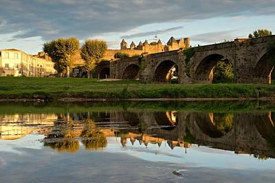 The Last Of The Light In Carcassonne Print by Stephen Taylor