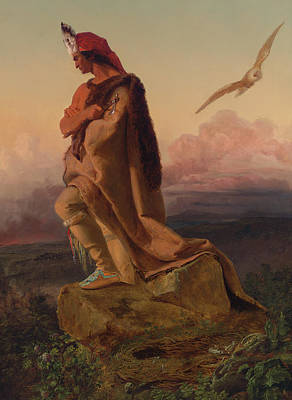 The Last Of The Mohicans Print by Emanuel Gottlieb Leutze