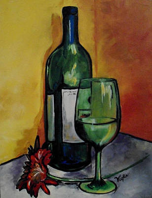 Winery Painting - The Last Of The Wine by Vickie Warner