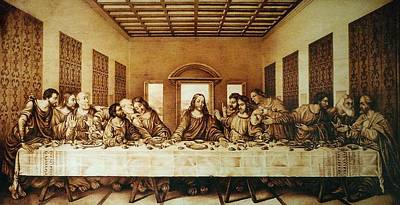 Custom Reproductions Pyrography - The Last Supper by Dino Muradian
