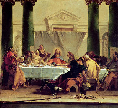 The Followers Painting - The Last Supper by Giovanni Battista Tiepolo