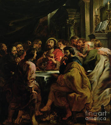 The Last Supper Print by Rubens