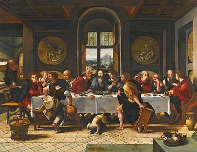 Painting - The Last Supper by Workshop of Pieter Coecke van Aelst the Elder