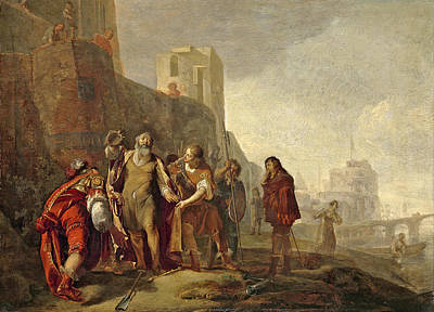 Nikolaus Knuepfer Painting - The Legates Of Alexander The Great Investing The Gardener Abdalonymus With The Insignia Of The Kings by Nikolaus Knuepfer