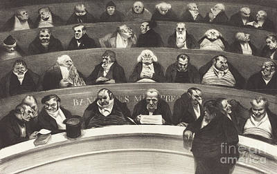 The Legislative Belly Print by Honore Daumier