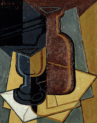 Bottle Painting - The Letter by Juan Gris