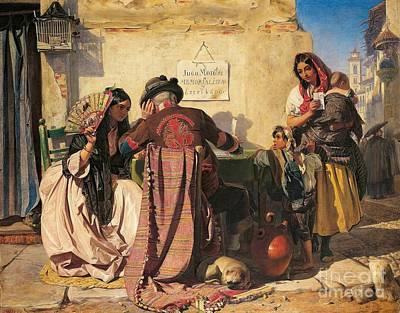 Seville Painting - The Letter Writer Of Seville  by John Phillip
