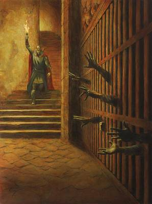 Dungeon Painting - The Liberator by Douglas Ramsey