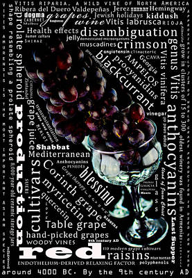 The Lifeline Of The Red Grapes Print by Toppart Sweden
