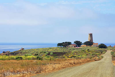 Old Western Photograph - The Light At Piedras Blancas - San Simeon California by Christine Till