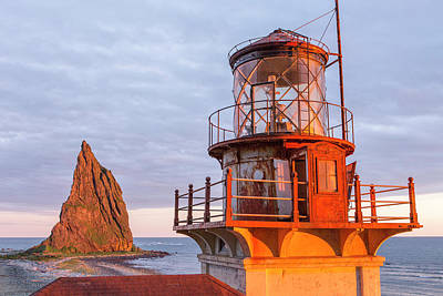 Sun Porch Photograph - The Lighthouse At Cape St Elias by Tim Grams