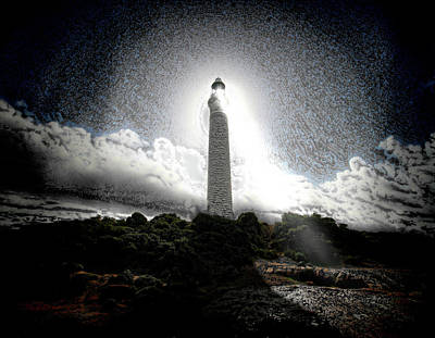 Twilight Zone Digital Art - The Lighthouse by Mimulux patricia no