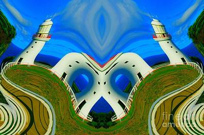 Racetrack Digital Art - The Lighthouse Racetrack by Lorles Lifestyles