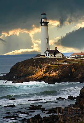 The Lighthouse Print by Randall Branham
