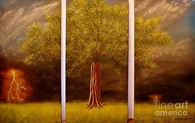 Granddaddy Painting - The Lighting Tree by Tim Townsend