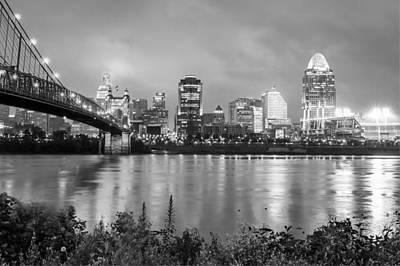 Skylines Photograph - The Lights Of Cincinnati Ohio by Gregory Ballos