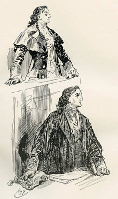 The Likeness In Court. My Lord Print by Vintage Design Pics