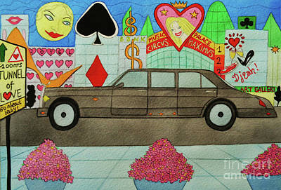 The Limo Of Sucess And Love Print by Don Pedro De Gracia