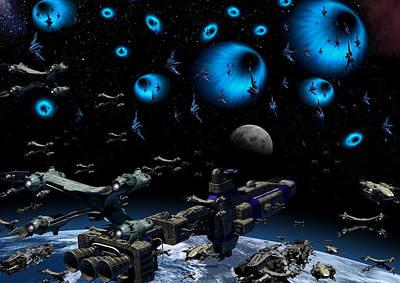 Babylon 5 Digital Art - The Line by Joseph Soiza