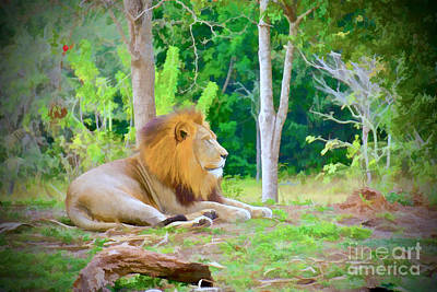 Lion Painting - The Lion King by Judy Kay