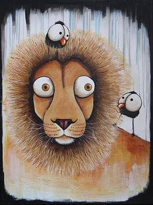 Painting - The Lion by Lucia Stewart
