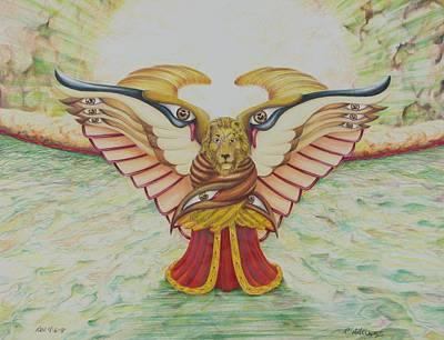The Lion Print by Rick Ahlvers