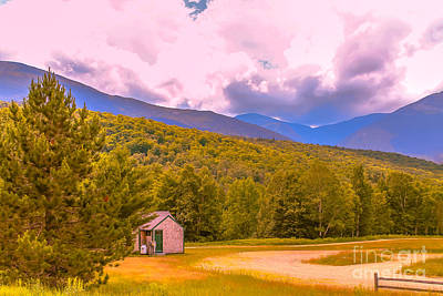 Pause Photograph - The Little Cabin by Claudia M Photography