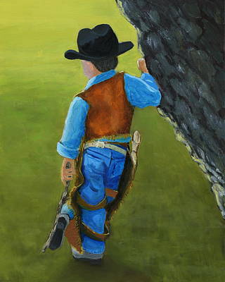 Ranchers Painting - The Little Cowboy by Karyn Robinson