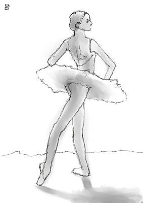 Tutus Drawing - The Little Dancer by H James Hoff