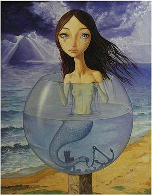 Little Mermaid Painting - The Little Mermaid by Adrian Borda