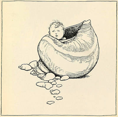 Little Mermaid Painting - The Little Mermaid by William Heath Robinson