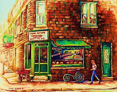 The Main Montreal Painting - The Little Red Wagon by Carole Spandau