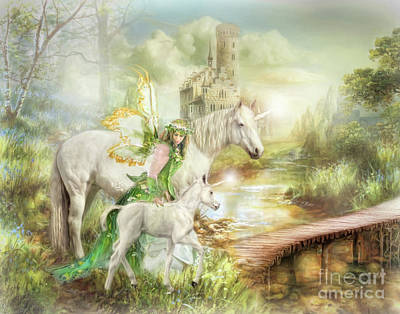 Pegasus Mixed Media -  The Littlest Unicorn by Trudi Simmonds