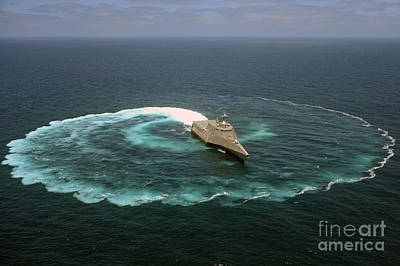 U-2 Painting - The Littoral Combat Ship Uss Independence by Celestial Images