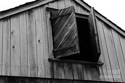Barn Loft Photograph - The Loft Door In Black And White by Paul Ward