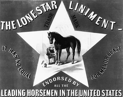 The Lonestar Liniment Print by Digital Reproductions