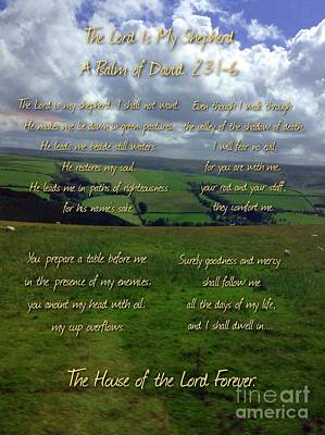 The Lord Is My Shepherd Print by Joan-Violet Stretch