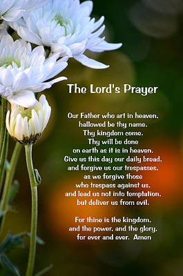 The Lord's Prayer Print by Deb Halloran